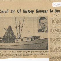 Image of A small bit of history returns to our port