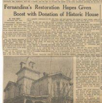 Image of Fernandina's restoration hopes given boost with donation of historic house - Newspaper