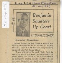 Image of Benjamin saunters up coast