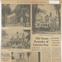 Image of Old Homes Reminder of Colorful Past  - Newspaper
