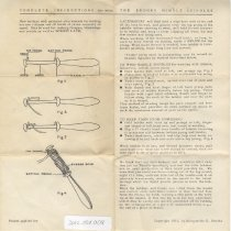 Image of Instructions for bobbin lace making  - Bobbin, Lace