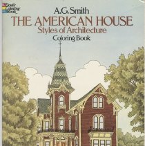 Image of The American House:  Styles of architecture coloring book - Book