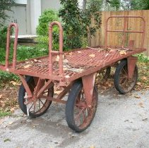 Image of Railroad luggage cart - Cart, Luggage