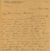 Image of Letter from R.A. McCranie - Letter