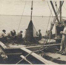 Image of Mending shrimp nets - Print, Photographic