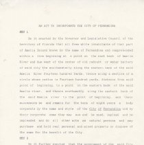 Image of An act to incorporate the City of Fernandina