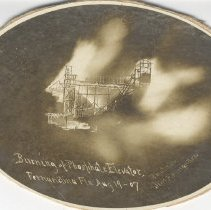 Image of Burning of phosphate elevator - Print, Photographic