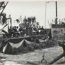 Image of Dedication of Marine Welcome Station - Print, Photographic