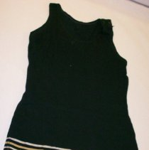 Image of Black 1920s Bathing Suit. - Suit, Bathing