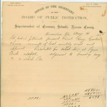 Image of School Board Minutes, Aug. 4, 1875 - Minutes