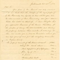Image of Letter from G. W. Call - Letter