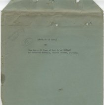 Image of Abstract of Title to the North 50 feet of Lot 3, of Replat of Sorensen Terrace, Nassau County, Florida. - Deed