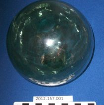 Image of Green Glass Ball - Ball, Crystal
