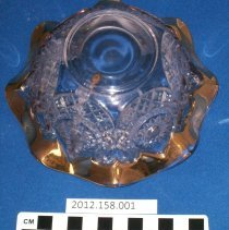 Image of Cut glass bowl - Bowl, Decorative