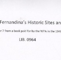 Image of A driving tour of Fernandina's historic sites and older homes. - Manuscript