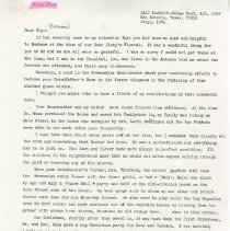 Image of Letter from Marie Cone to Glyn Waas (07/21/1984) - Letter