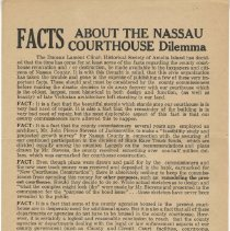 Image of Facts about Nassau Courthouse Dilemma