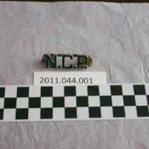 Image of N.C.P. Pin - Badge, Law Enforcement