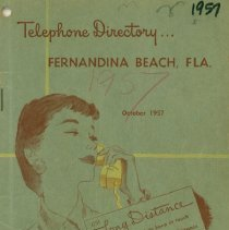 Image of Southern Bell Telephone and Telegraph Company Telephone Directory, Fernandina, FL., Oct. 1957 - Directory, Telephone