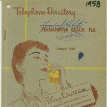 Image of 1958 Telephone Directory