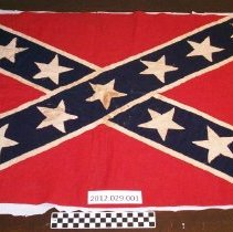 Image of Handmand Confederate battle flag - Flag