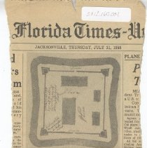 Image of Old Spanish Fort plans discovered - Clipping, Newspaper