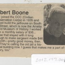 Image of Albert Boone - Clipping, Newspaper