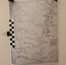 Image of General Robert Howe's Campaign to Florida - Map