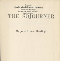 Image of The Sojourner - Book