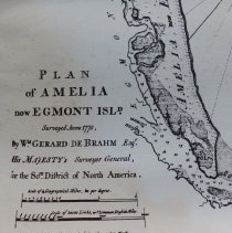 1770 Map of Amelia Island Florida