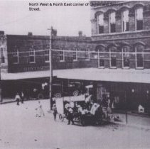 Image of Corner of Center and Second Streets - Print, Photographic