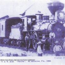 "Image of Engine ""Havana"" Florida Railroad and Navigation Company #18 - Print, Photographic"