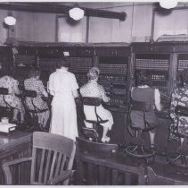 Image of Southern Bell Telephone switchboard