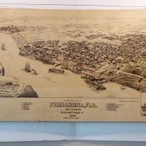 Image of 1884 Birds eye view of Fernandina.