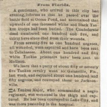 Image of Civil War Newspaper Clippings - Newspaper