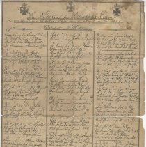 Image of German List & Poem