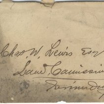 Image of Envelope - Correspondence