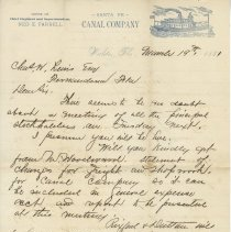 Image of Letter - Correspondence