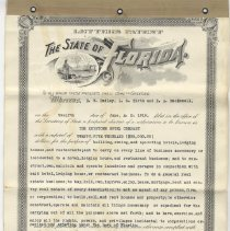 Image of Charter of Incorporation for The Keystone Hotel Company - Charter