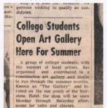 Image of The Gallery at Keystone Hotel  - Clipping, Newspaper