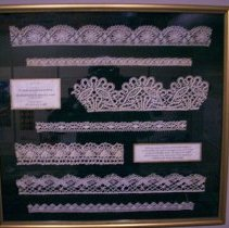 Image of Examples of the bobbin lace made by the Sisters of St. Joseph in the Convent in Fernandina - Lace
