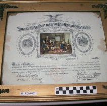 Image of American Flag House Association certificate