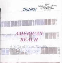 Image of Index to American Beach:  A saga of race, wealth, and memory - Book