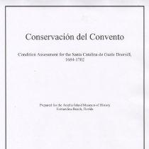 Image of Conservacion del Convento:  Condition assessment for the Santa Catalina de Gaule Doorsill, 1684-1702 - Manuscript
