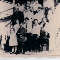 Image of Lighthouse Keeper's Cottage and Family - Print, Photographic