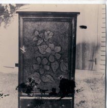 Image of Furniture with floral decorations - Print, Photographic