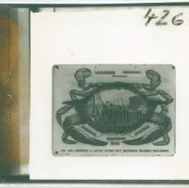 Image of J. A. Alexander's crab-style logo - Print, Photographic