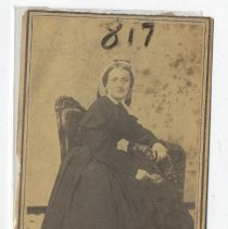 Image of Seated posed woman - Print, Photographic