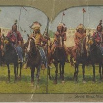 Image of Noted Sioux Warriors - Stereograph