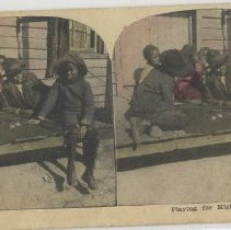 Image of Children playing games of chance